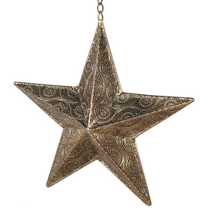 Gold Hanging Star Candle Holder Homeware Coach House