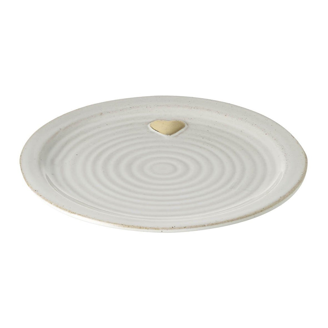 Gold Heart Plate Homeware Parlane