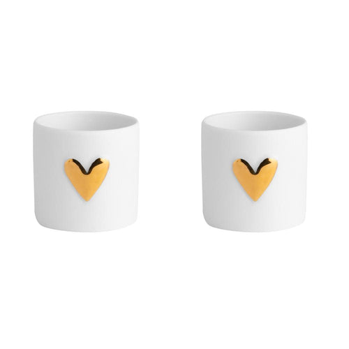 Gold Heart Tea Light Set of 2 Homeware Rader