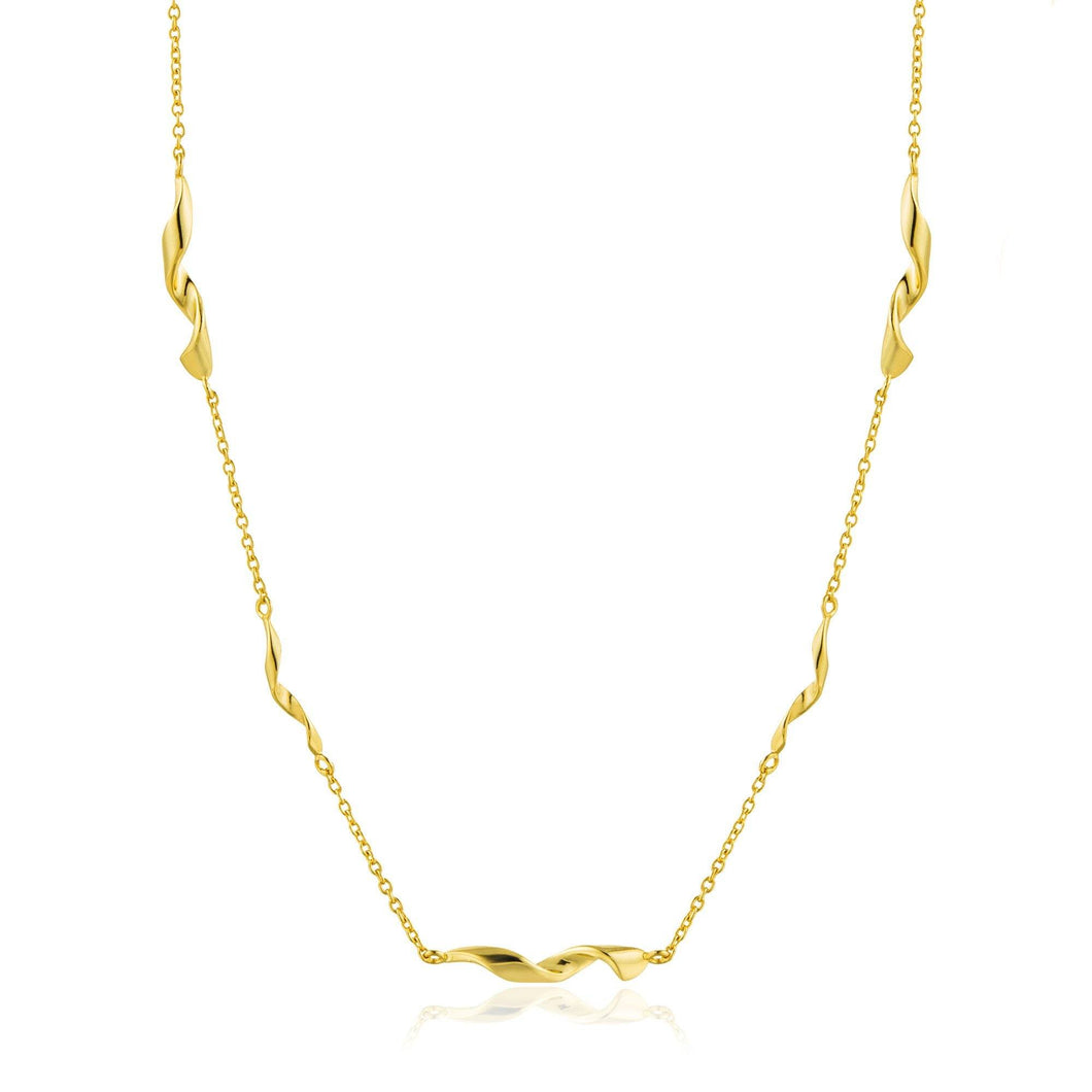 Gold Helix Necklace Jewellery Ania Haie