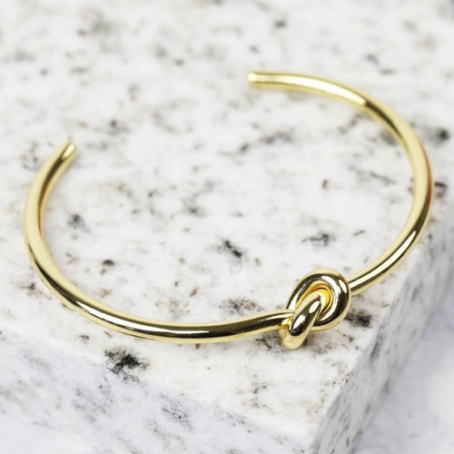 Gold Knot Bangle Jewellery Lisa Angel