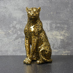 Gold Leopard Ornament Homeware Candlelight