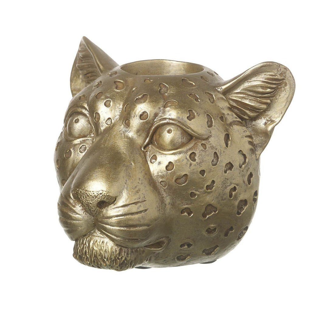 Gold Leopard Tealight Holder Homeware Parlane
