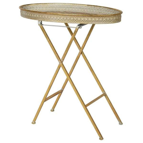 Gold Oval Side Table Furniture Coach House