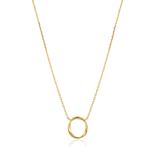 Gold Swirl Necklace Jewellery Ania Haie