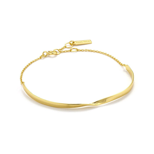 Gold Twist Bracelet jewellery Ania Haie