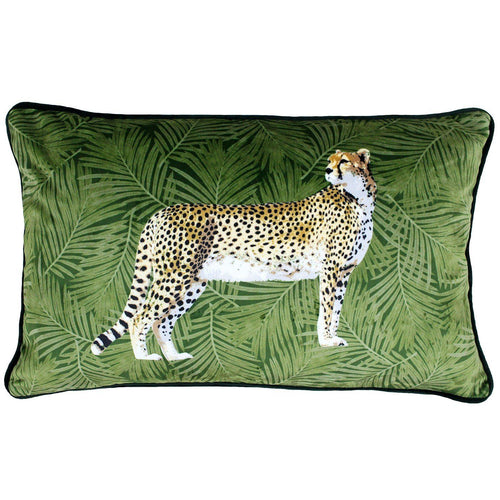 Green Cheetah Cushion Soft Furnishing Riva Home