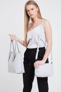 Grey 2 in 1 Tote Accessories Kris Ana