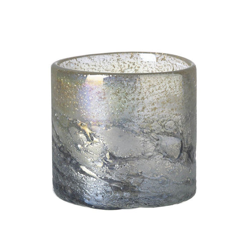 Grey and Lustre Glass Tealight Holder Homeware Parlane
