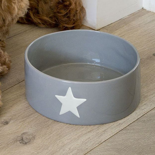 Grey Bowl with White Star Homeware Retreat