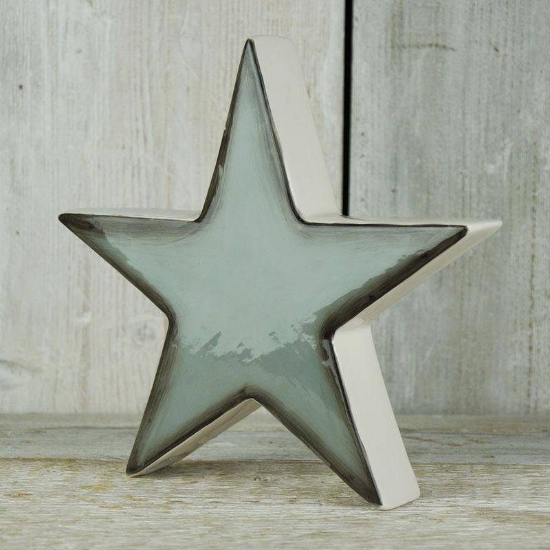 Grey Ceramic Star Homeware Teal