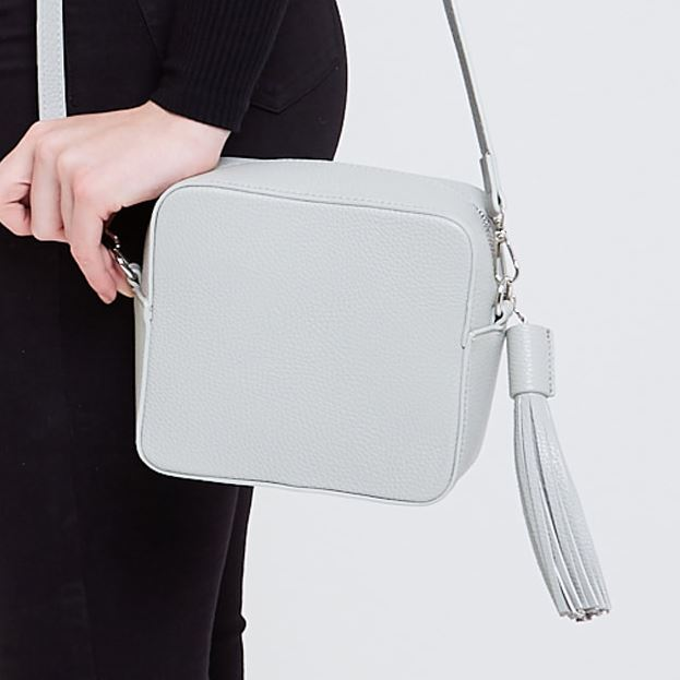 Grey Crossbody Box Bag Accessories Kris Ana