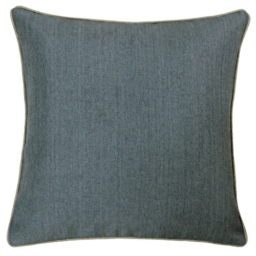 Grey Cushion with Graphite Edging Soft Furnishing Riva Home