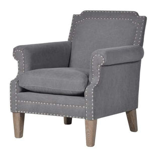 Grey Fabric Stud Armchair Furniture Coach House