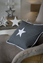Load image into Gallery viewer, Grey Star Cushion Cover Soft Furnishing Retreat