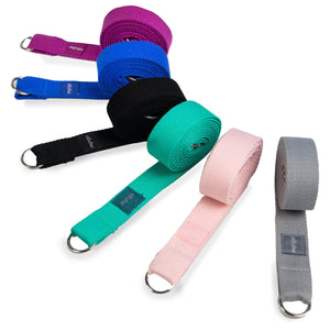 Grey Yoga Stretch Belt & Mat Carry Gift Ryder