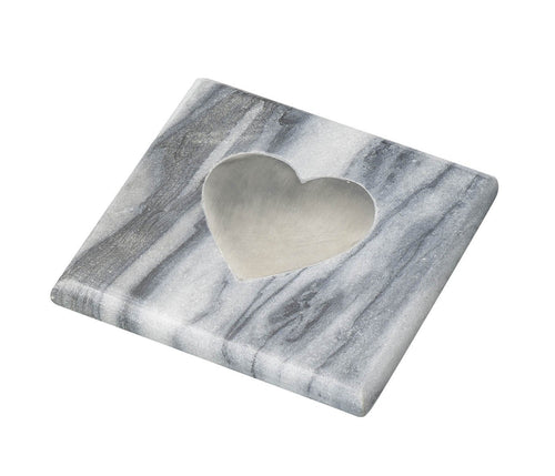 Heart Grey Marble Coaster Homeware Parlane