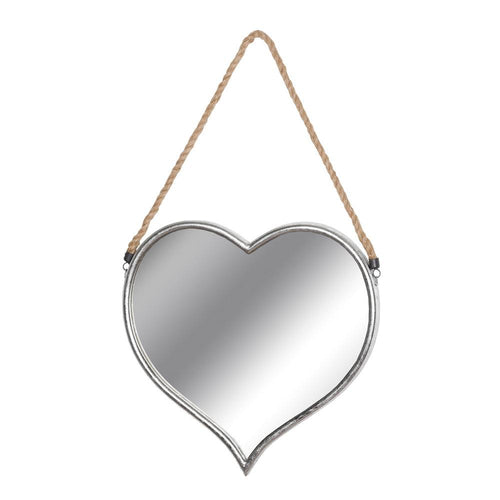 Heart Mirror With Rope Detail Homeware Hill Interiors