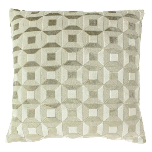 Ivory and Taupe Empire Cushion Soft Furnishing Riva Home