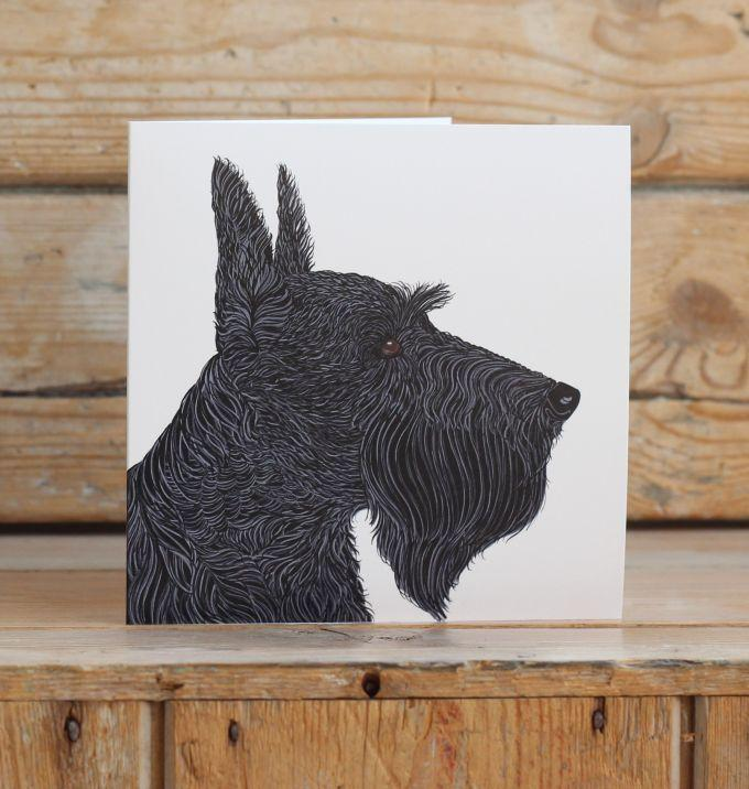 Jock the Scottish Terrier Card Stationery Bird