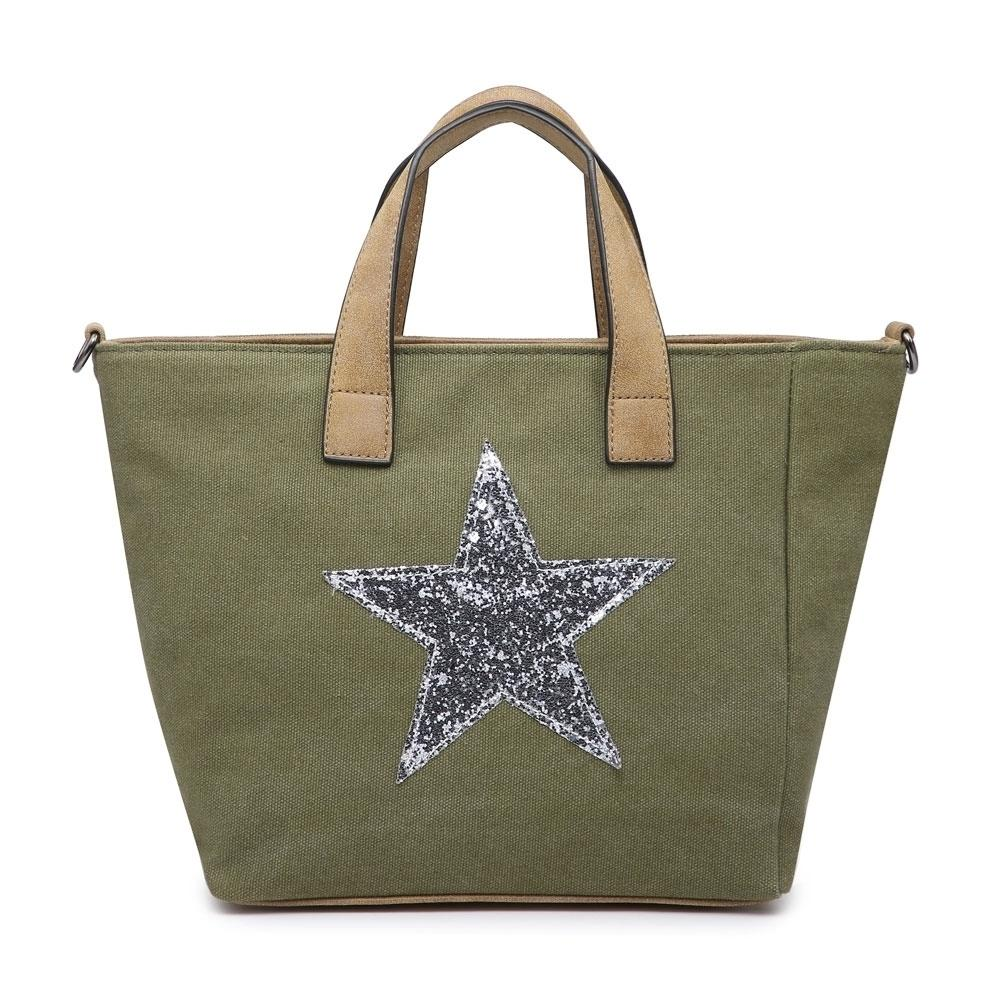 Khaki Star Handbag Accessories House of Milan