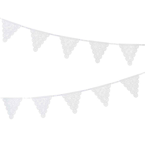 Lace Effect White Paper Garland Party Talking Tables