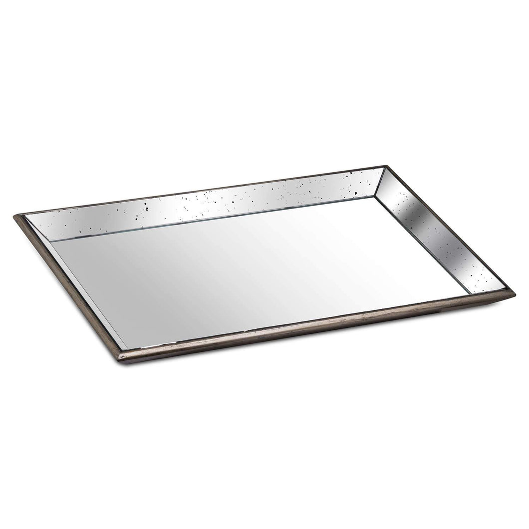 Large Distressed Mirrored Tray Homeware Hill Interiors