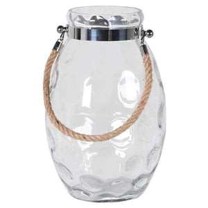 Large Hurricane Jar with Rope Homeware Coach House