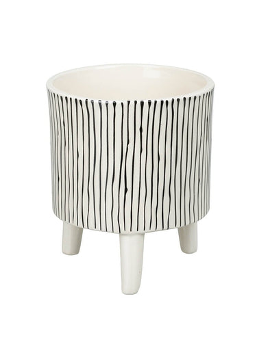 Large Striped Ceramic Planter Homeware Parlane