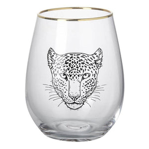 Leopard Safari Glass Homeware Parlane