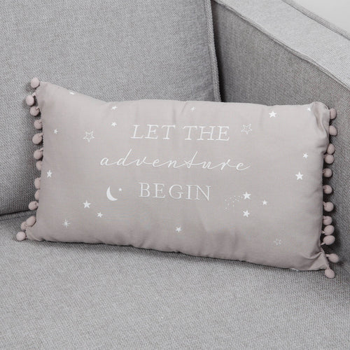 Let The Adventure Begin Linen Cushion Soft Furnishing Widdop