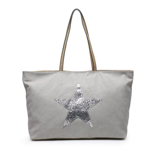 Light Grey Star Bag Accessories House of Milan