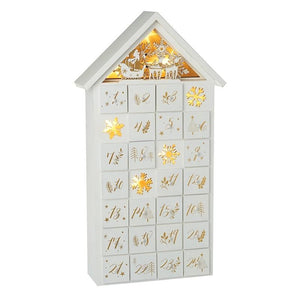 Light Up Wooden Advent Calendar Christmas Heaven Sends