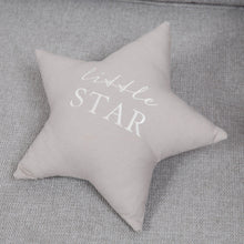 Load image into Gallery viewer, Little Star Grey Linen Cushion Soft Furnishing Widdop