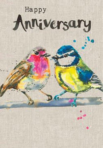 Love Birds Anniversary Card Stationery Sarah Kelleher