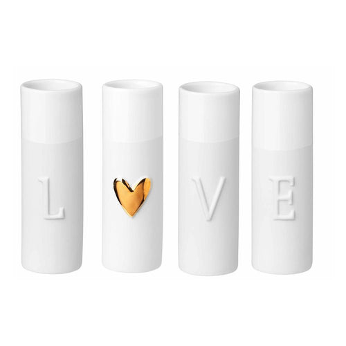 Love Mini Vases Set of 4 Homeware Rader