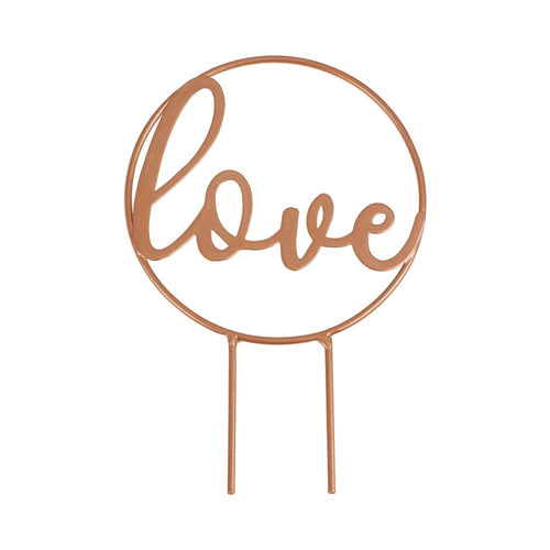 Love Rose Gold Wedding Cake Topper Party Ginger Ray
