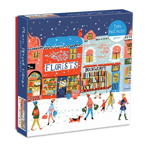Main Street Village 1000 Piece Puzzle Gift Abrahms and Chronicle