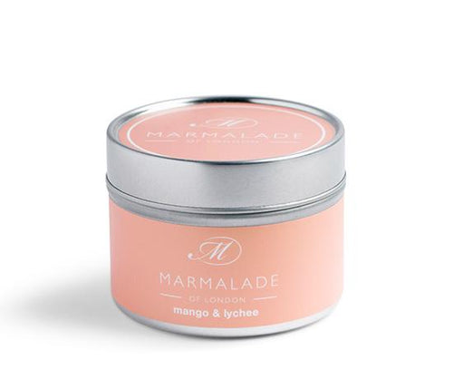 Mango and Lychee Tin Candle Home Fragrance Marmalade
