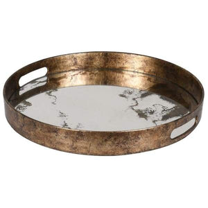 Marble Effect Mirror Tray Homeware Coach House