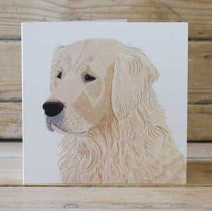 Marley Golden Retriever Card Stationery Bird