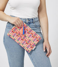 Load image into Gallery viewer, Miami Orange and Pink Boho Mini Clutch Accessories Ashiana London