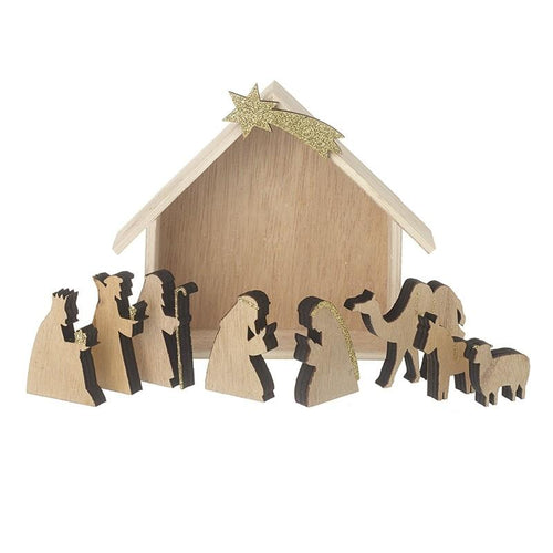 Mini Wooden Nativity Scene Christmas Heaven Sends