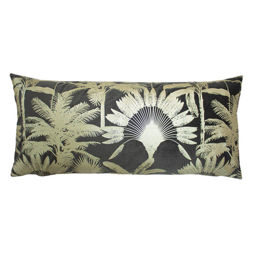 Mink Tropical Palm Cushion Soft Furnishing Riva Home