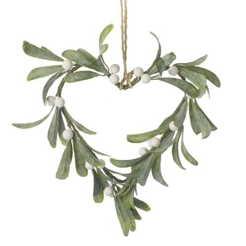 Mistletoe Heart Wreath Christmas Heaven Sends