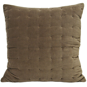 Mocha Velvet and Stitch Design Cushion Soft Furnishing Riva Home