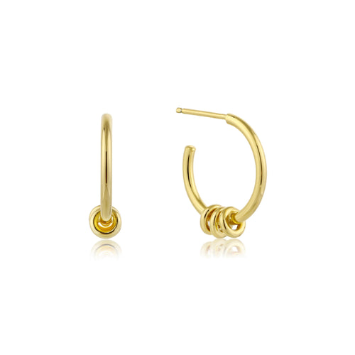 Modern Minimalism Gold Hoop Earrings Jewellery Ania Haie