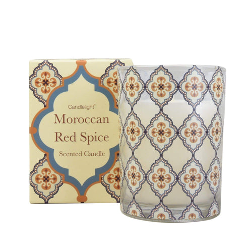 Moroccan Red Spice Candle Home Fragrance Candlelight