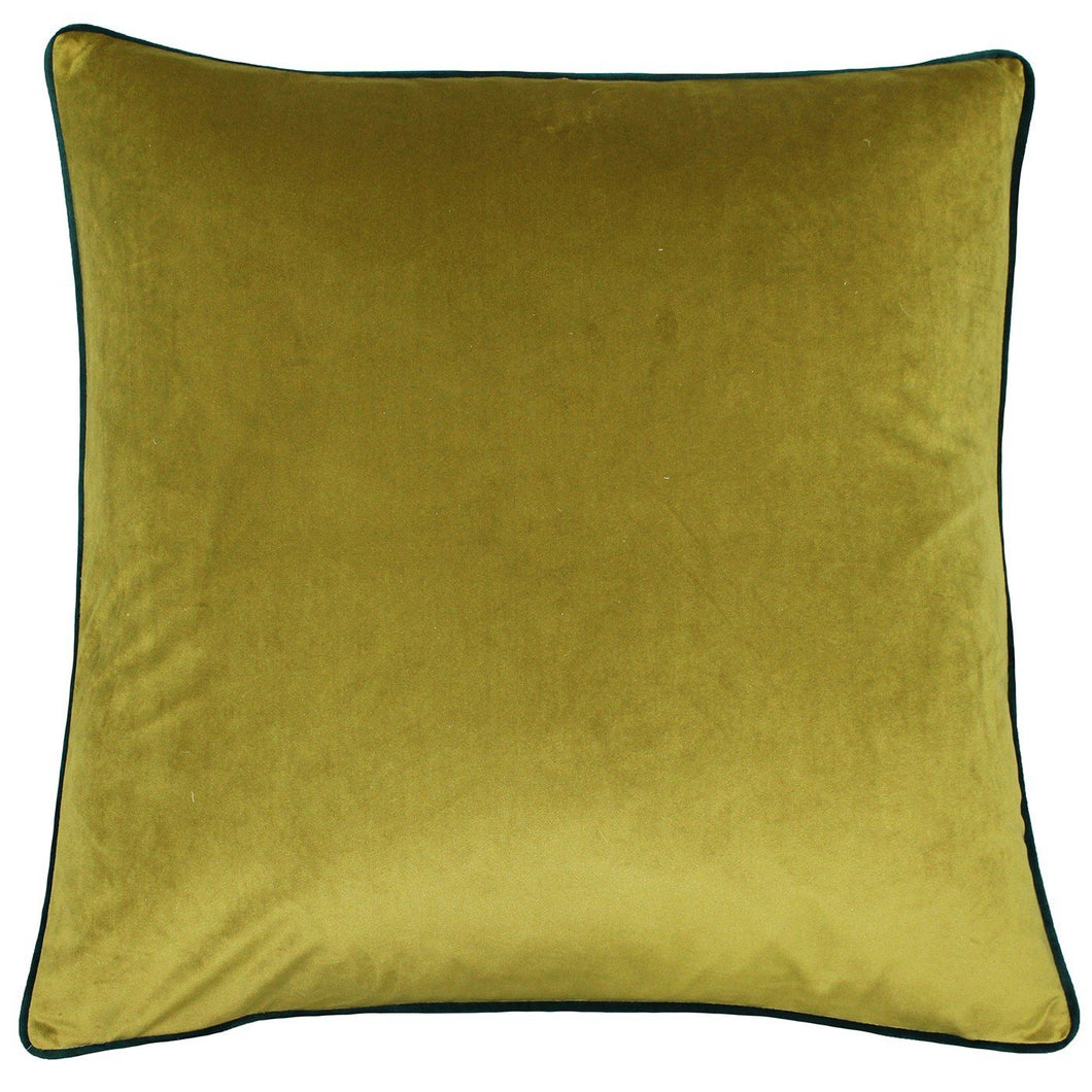 Moss and Emerald Velvet Cushion Soft Furnishing Riva Home