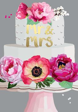 Mr and Mrs Cake Card Stationery Sarah Kelleher